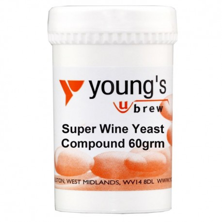 Young's Super Wine Yeast Compound 60g ( 10 Gal )