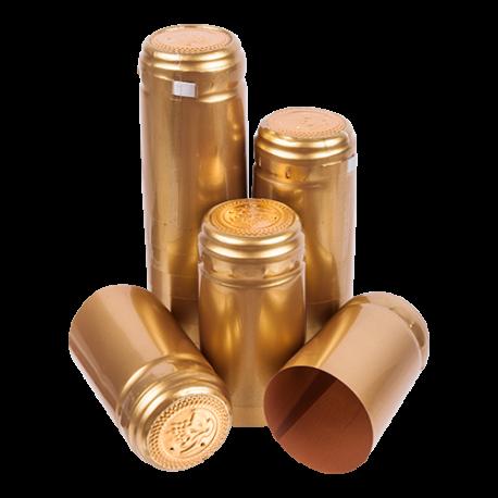 100 GOLD Shrink Caps Shrinks Capsules