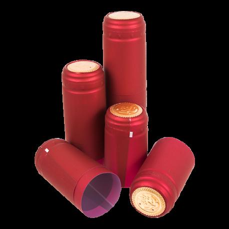 100 Red Shrink Caps Shrinks Capsules